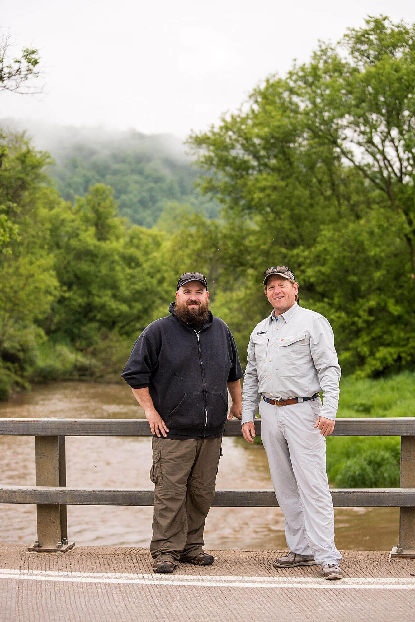 Chef Eric Mish with Host Colin Ambrose | Americanriverstour.com 2017 Driftless Area