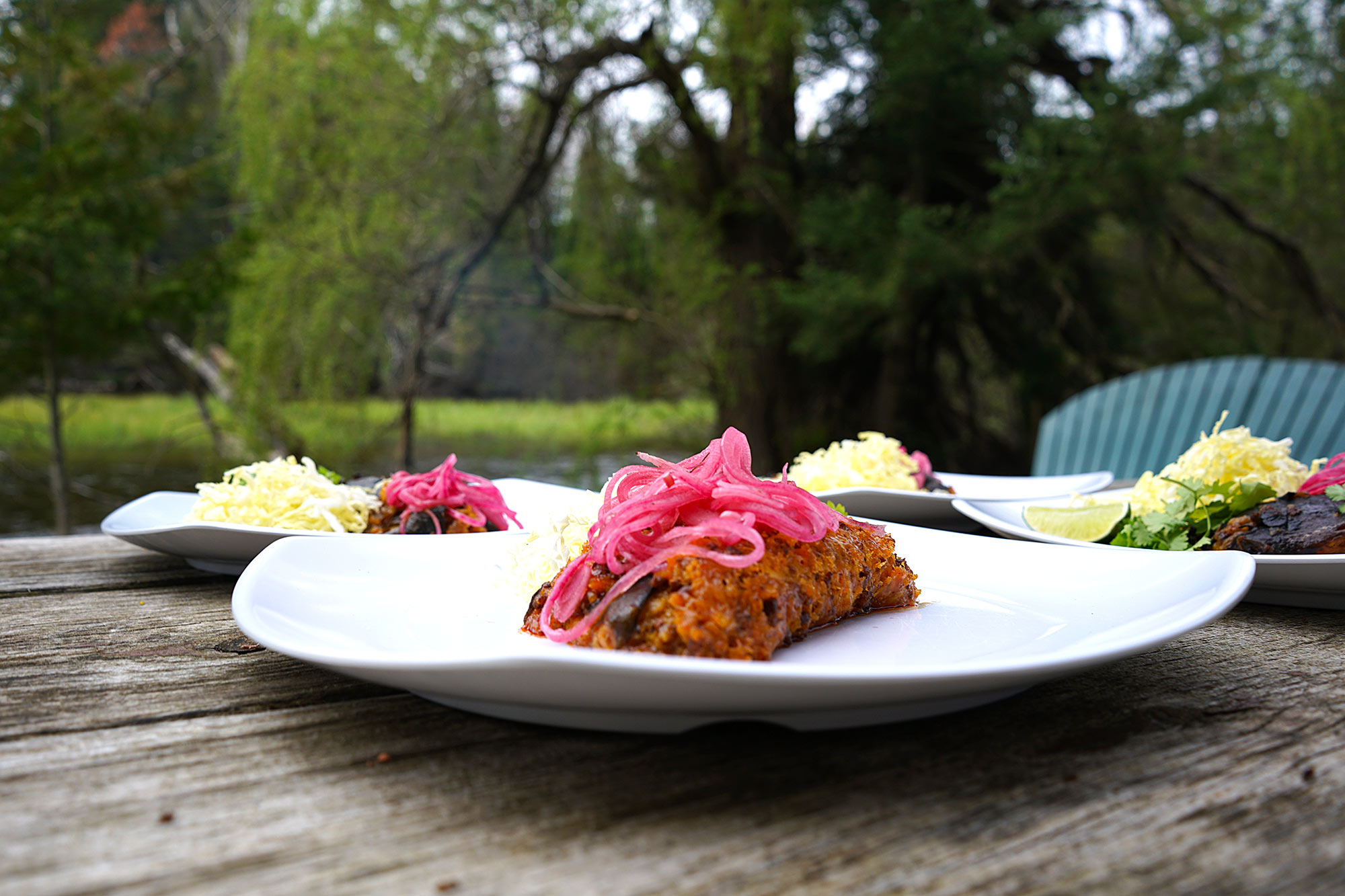 Chef Haley's Chili Rellenos with pickled onions | Au Sable