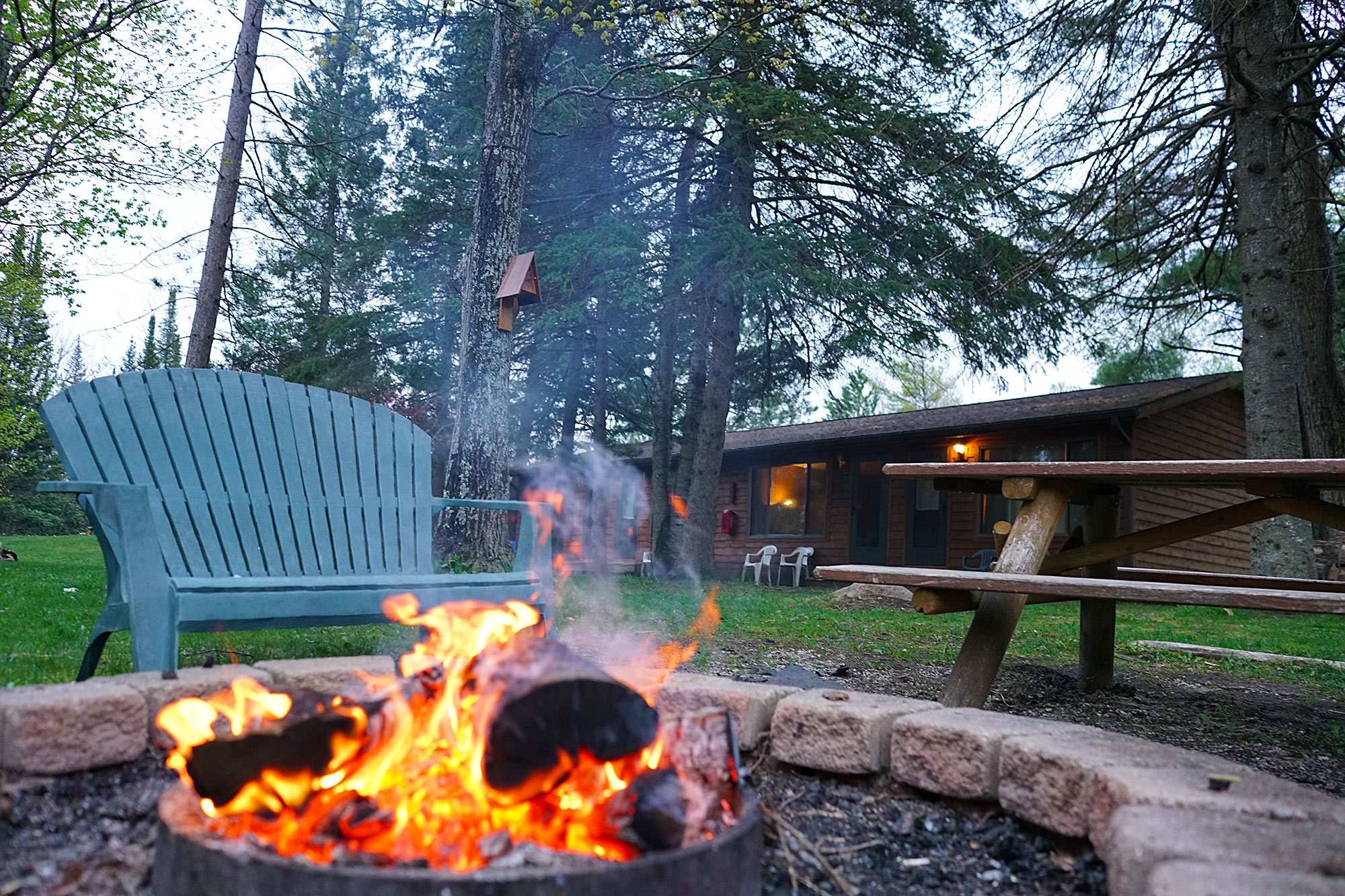 Fire pit at the Gates Au Sable Lodge