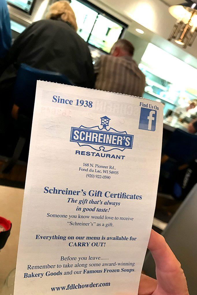 Schreiner's Guest check