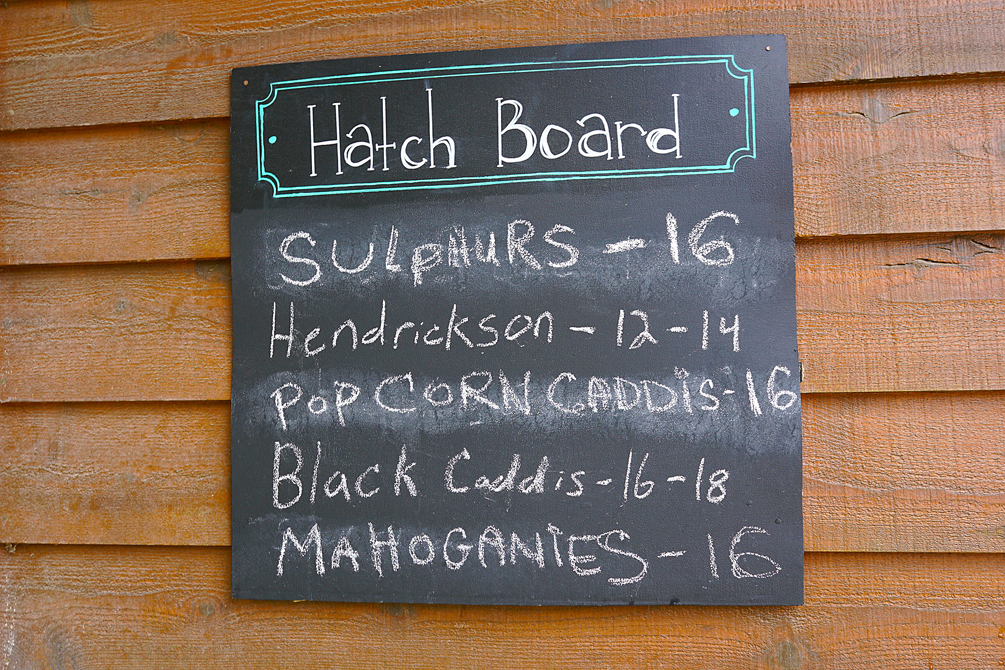 Hatch Board at the Gates Au Sable Lodge