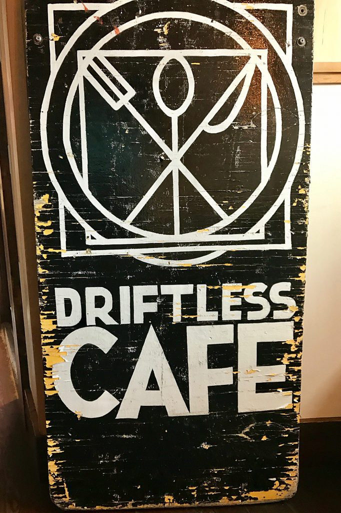 The Driftless Cafe Sign
