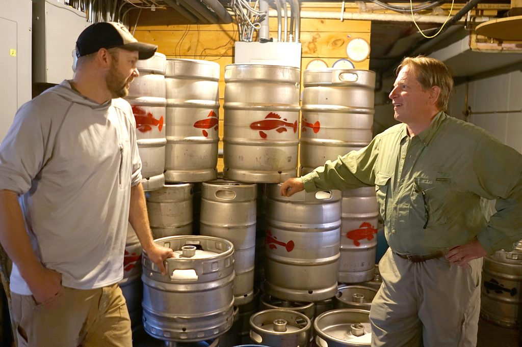 In the keg room with Jason Rasmussen