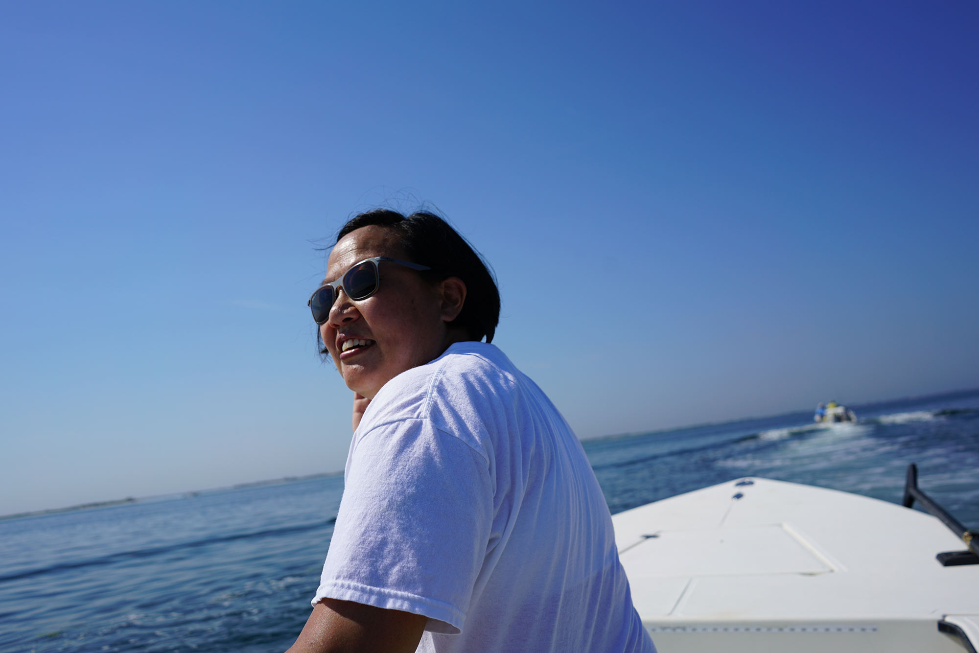 Chef Anita Lo on Moriches Bay, New York