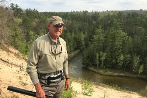 Dr. Mark Siepel on the Pine river