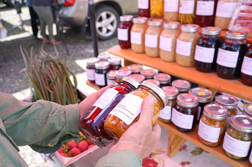 Finding pickled beets at the Hayward Farmers Market