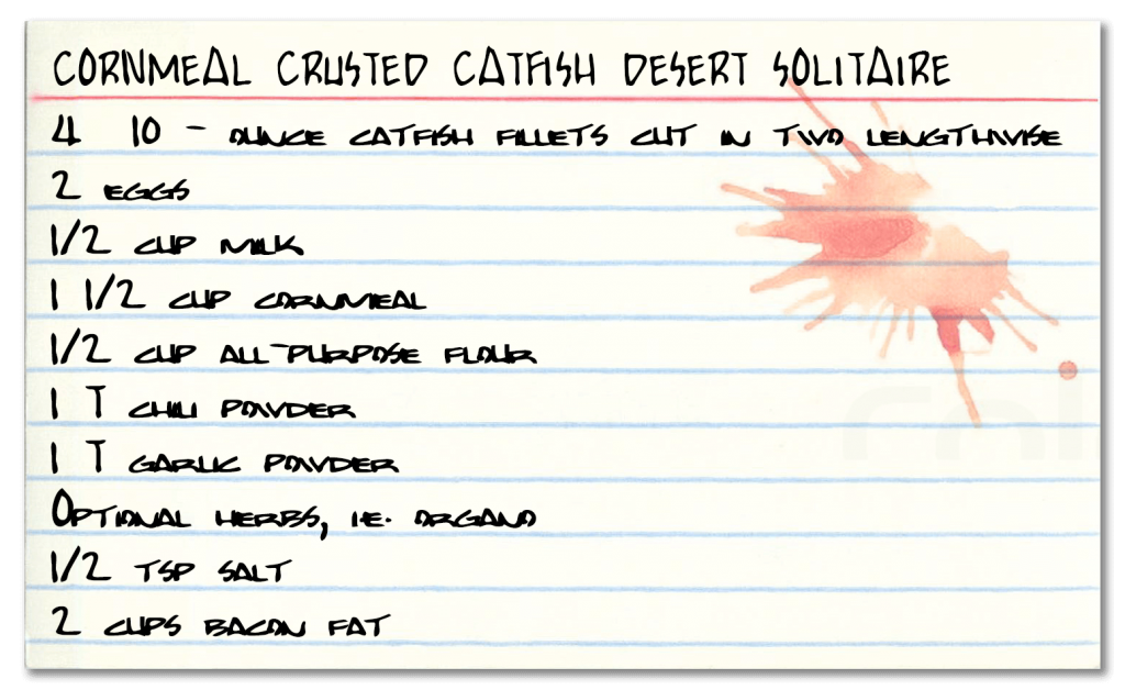 Catfish Recipe Card