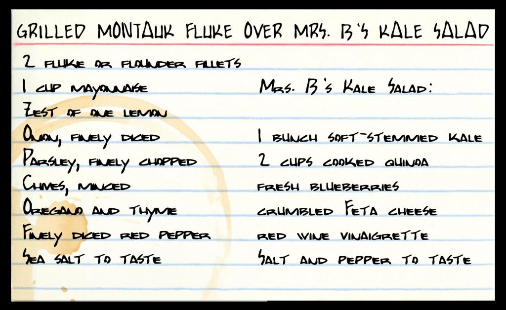 Grilled Montauk fluke recipe