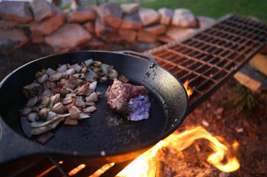 Blueberry Ricotta Stuffed Buffalo Filet