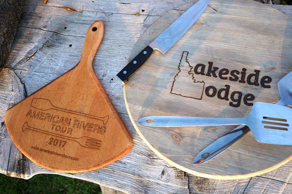 Lakeside Lodge, Idaho and American Rivers Tour Cutting boards