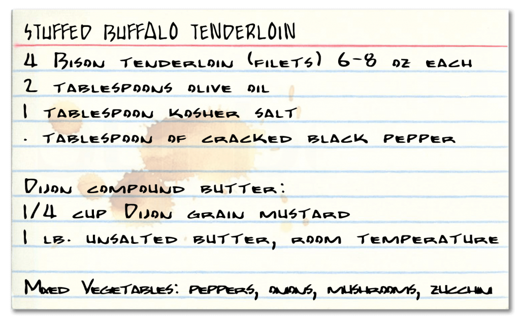 Buffalo Filet Recipe Card
