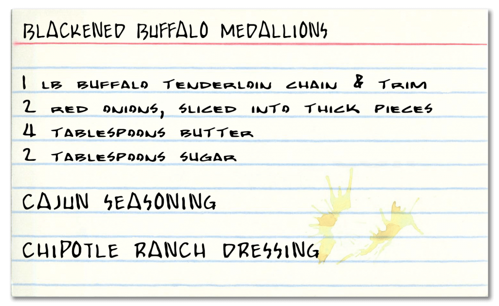 Blackened Buffalo Medallions Recipe
