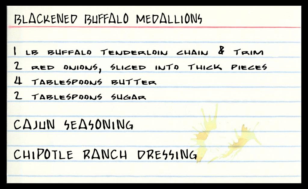 Blackened Buffalo Medallions Recipe