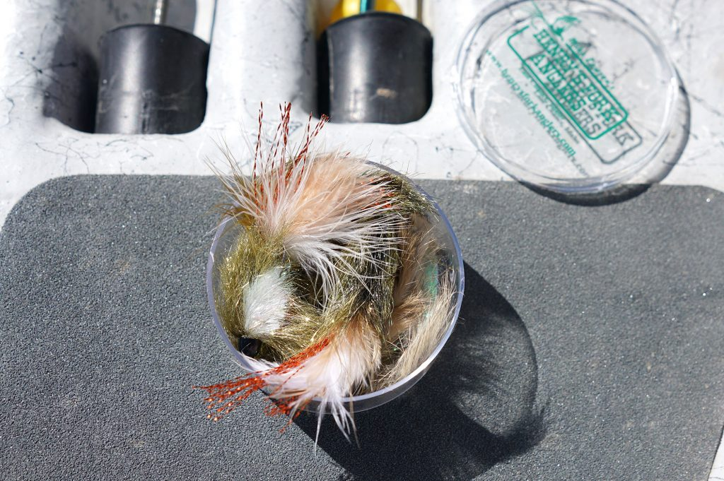 Coffee sparkle streamers from Henry's Fork Anglers