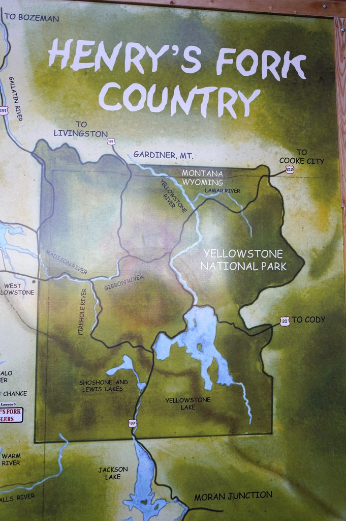 Guide shop map from Henrys Fork Anglers, 9-27-17