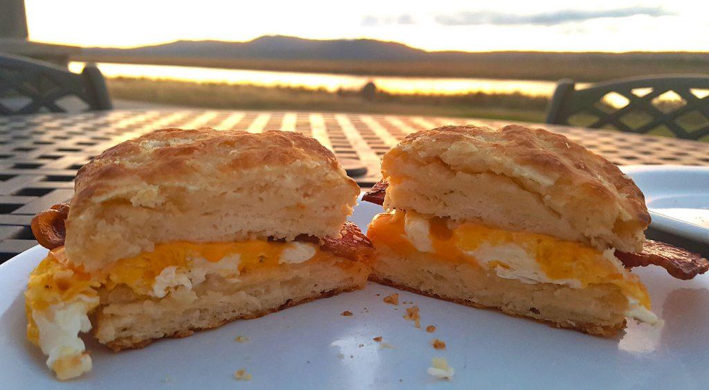 Peep's egg sandwich
