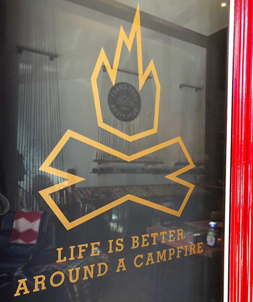 First stop: Lost Coast Outfitters in San Francisco to stock on gear