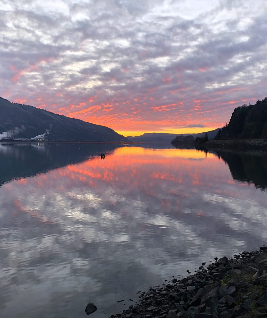 Columbia River in Hood River Oregon