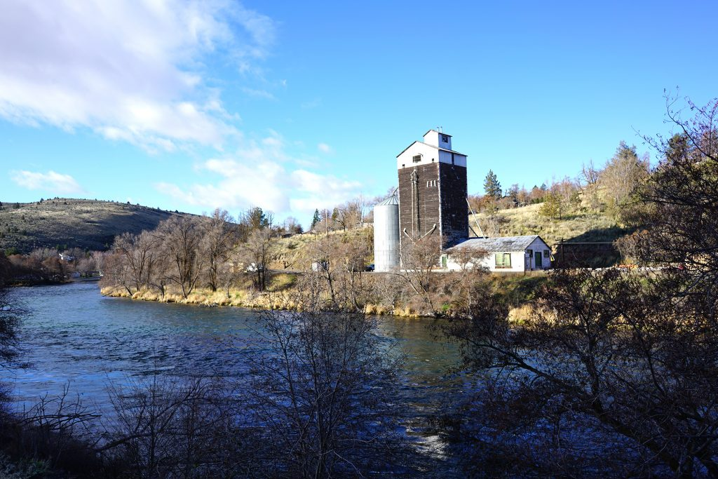 Grain Mill on the Deschutes river in Maupin, Oregon