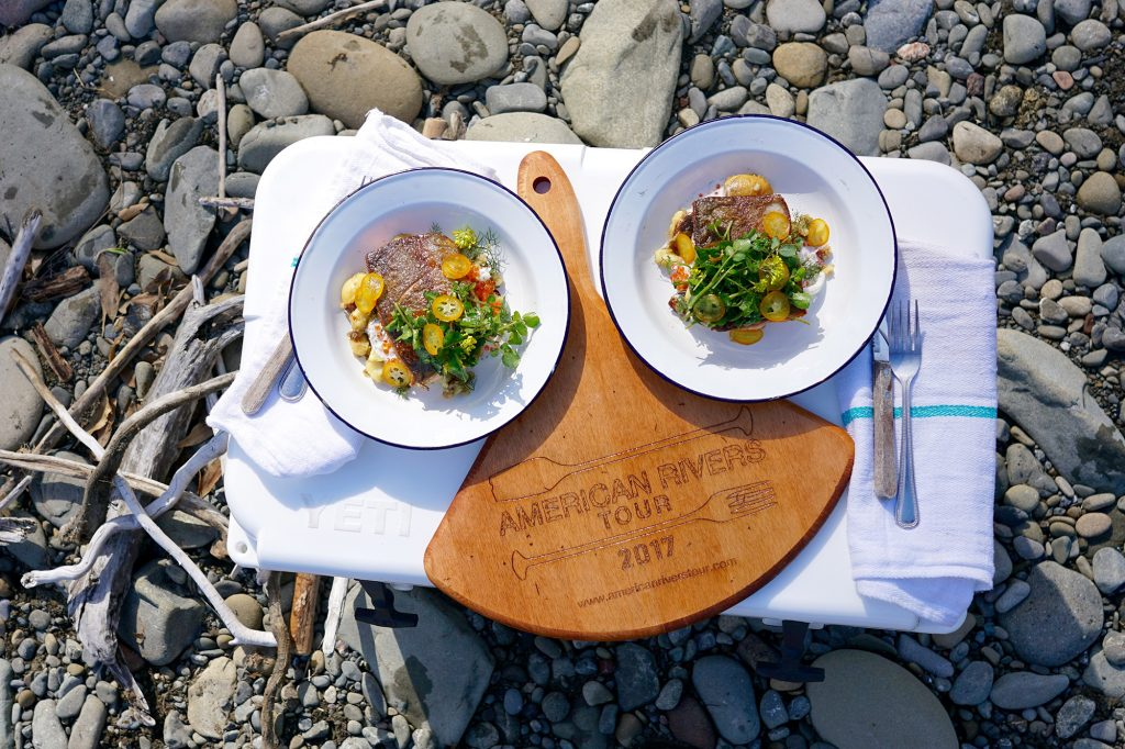 Hatchery Steelhead lunch   By the Eel River in Benbow, California