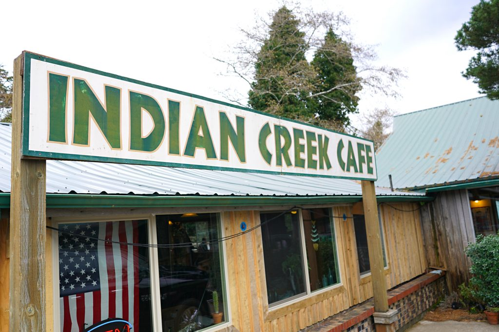 Indian Creek Cafe by the Rouge River, Oregon Coast, 3-6-18