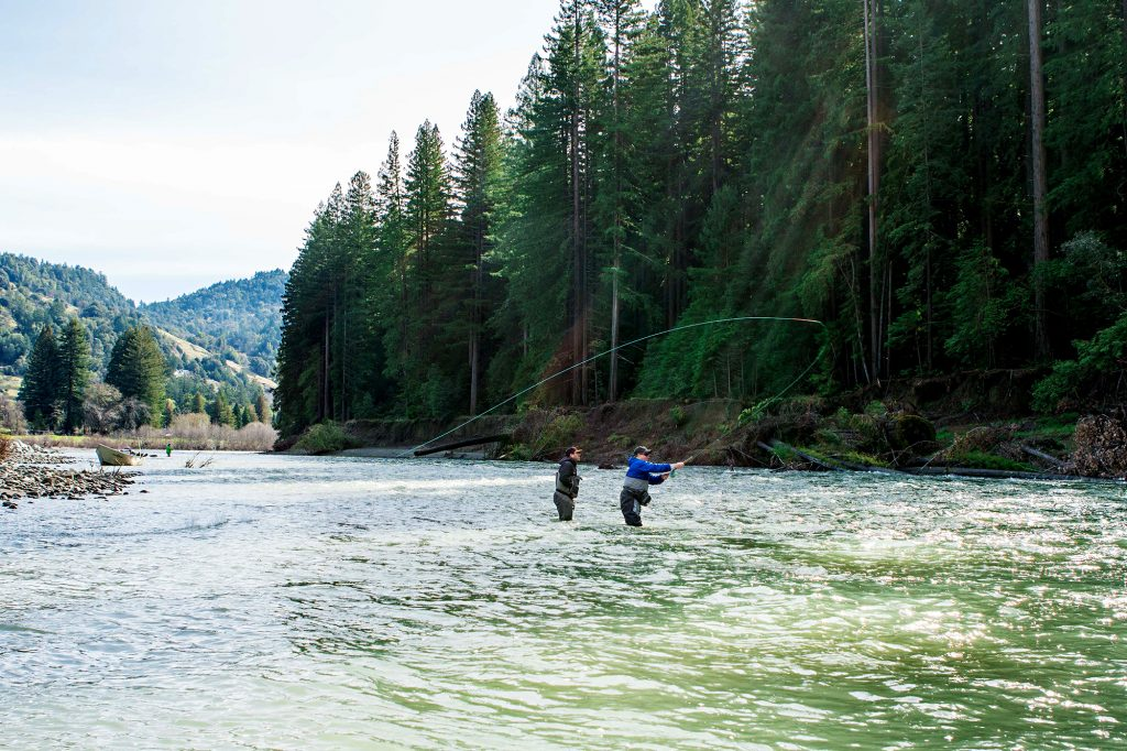 Fly fishing the Eel River