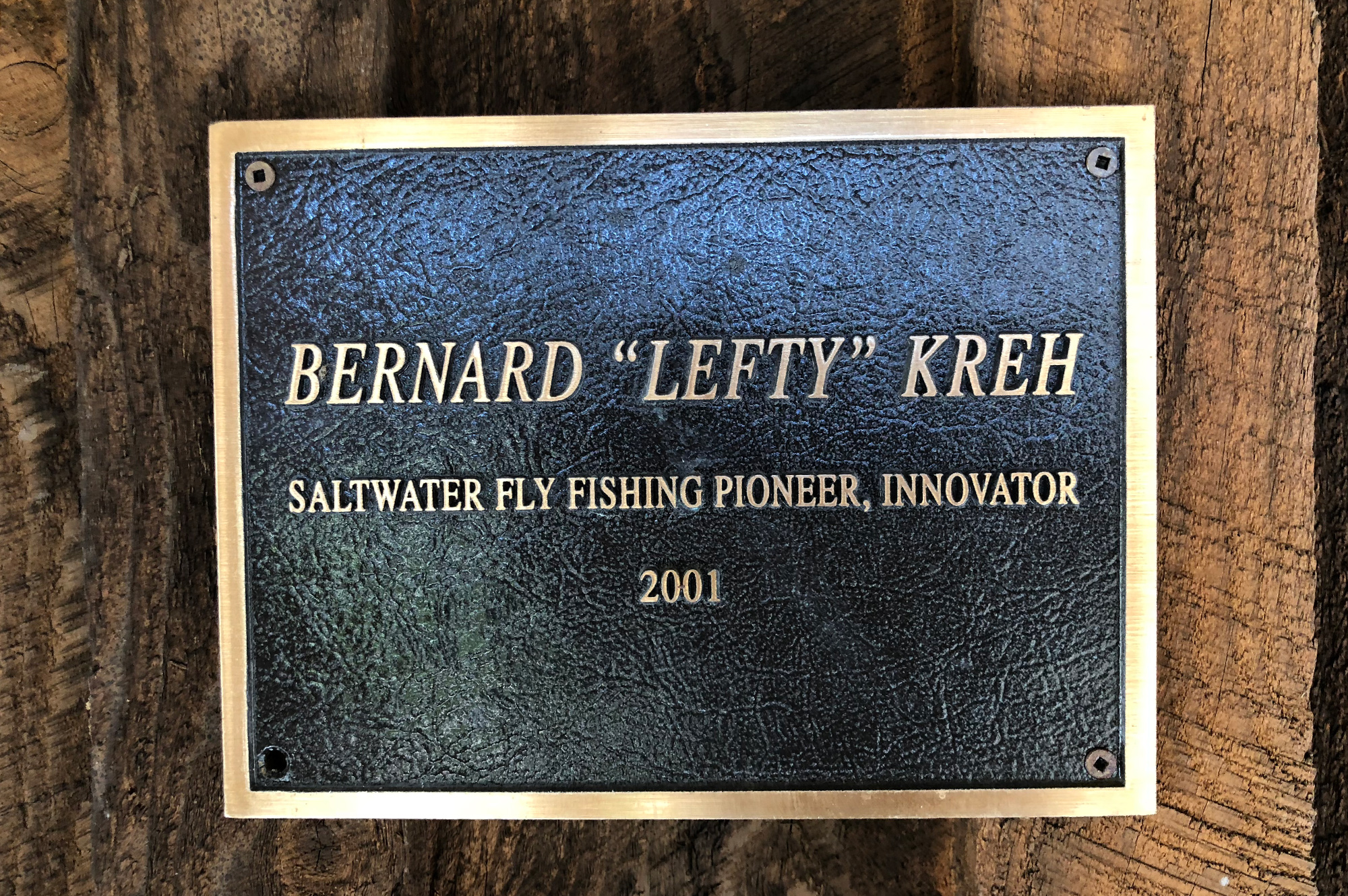 Museum Plaque - Lefty
