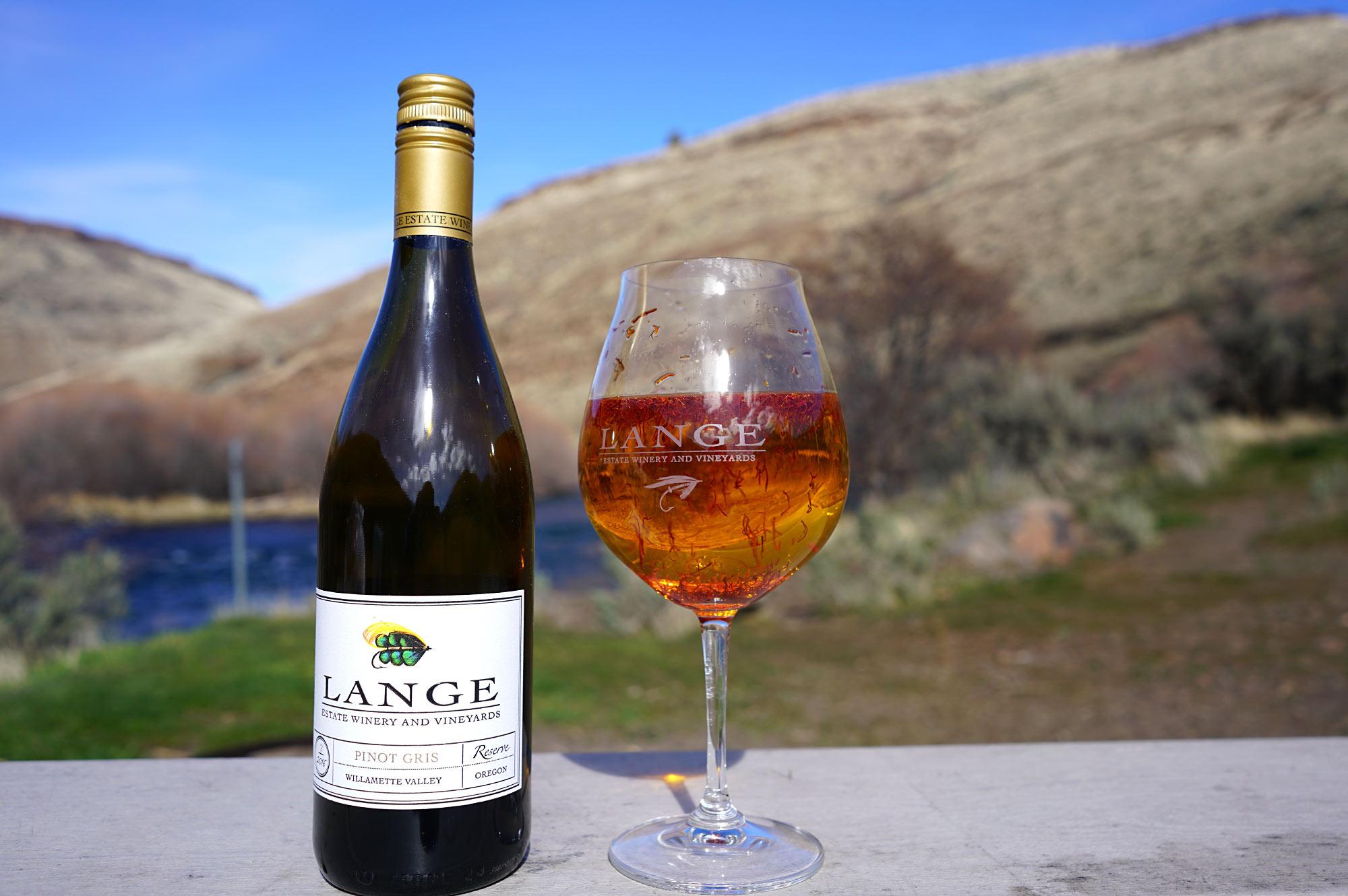Lange Pinot Gris with safron