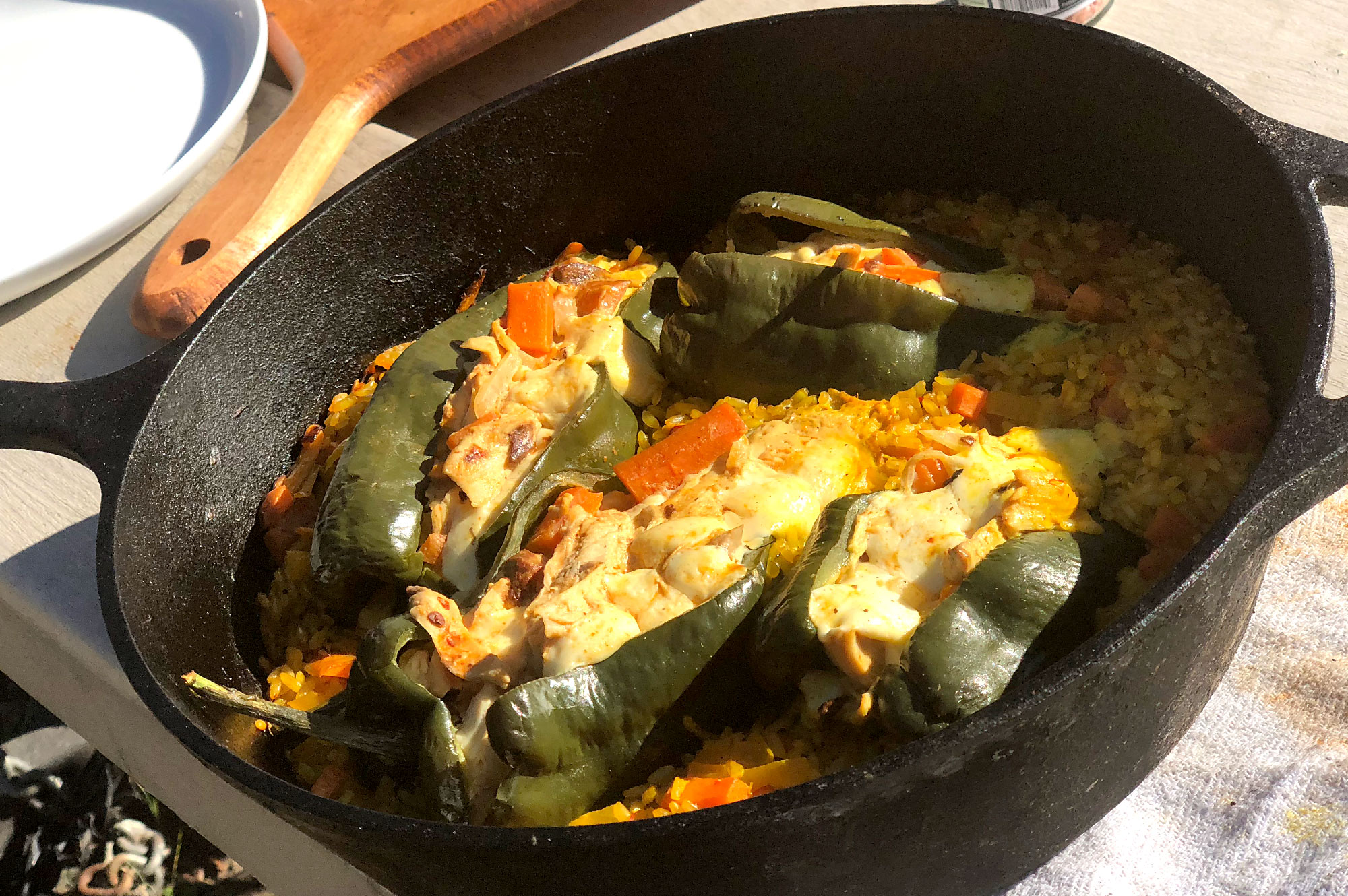 Chili chicken rellenos
