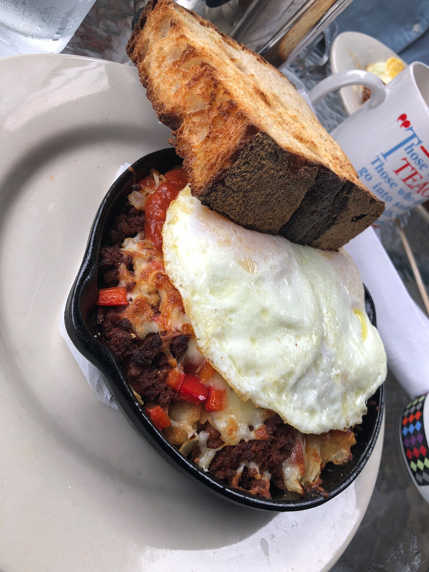 "Breakfast skillet called ""The Conquistador"""