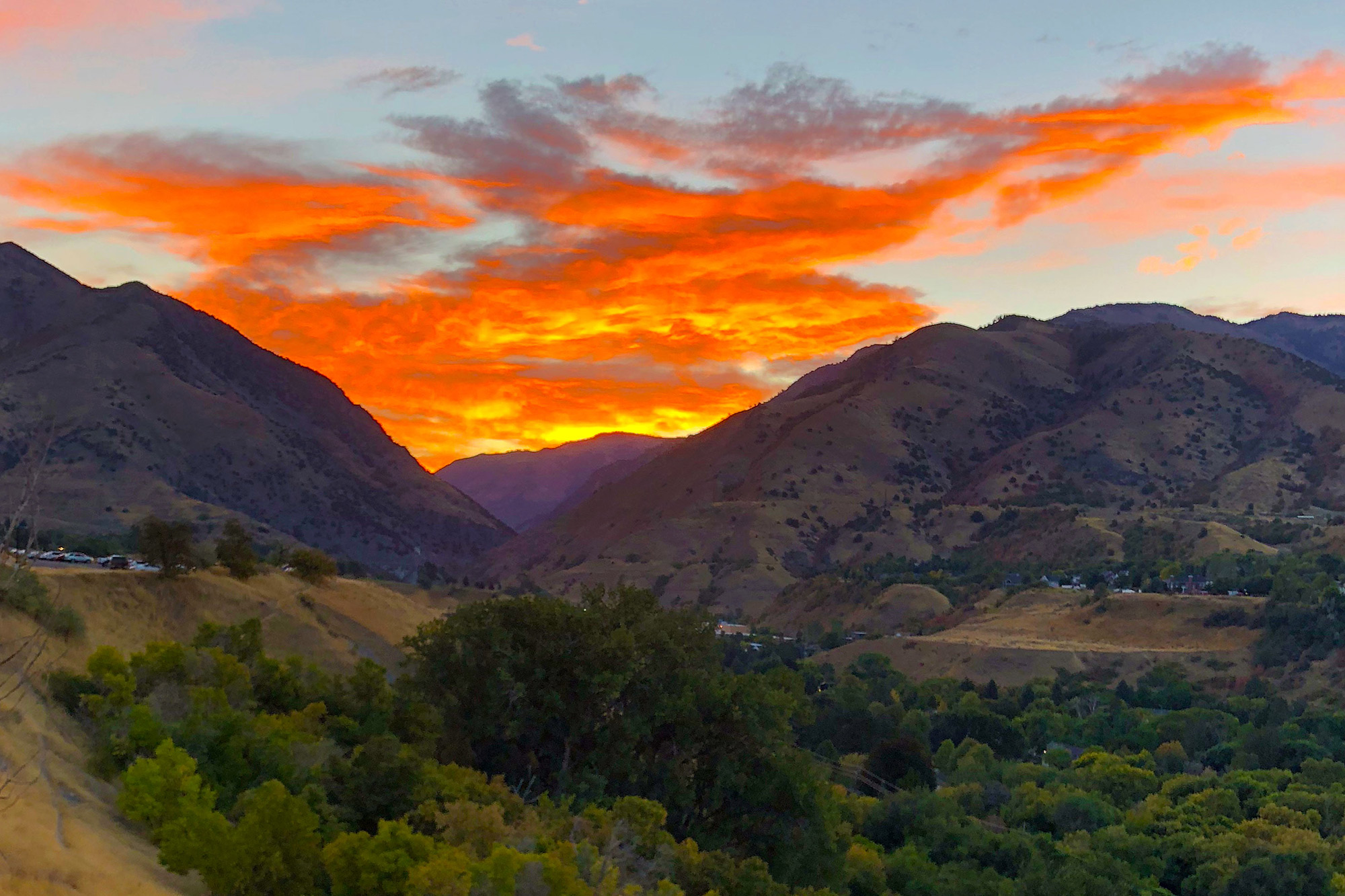 Logan Canyon sunrise