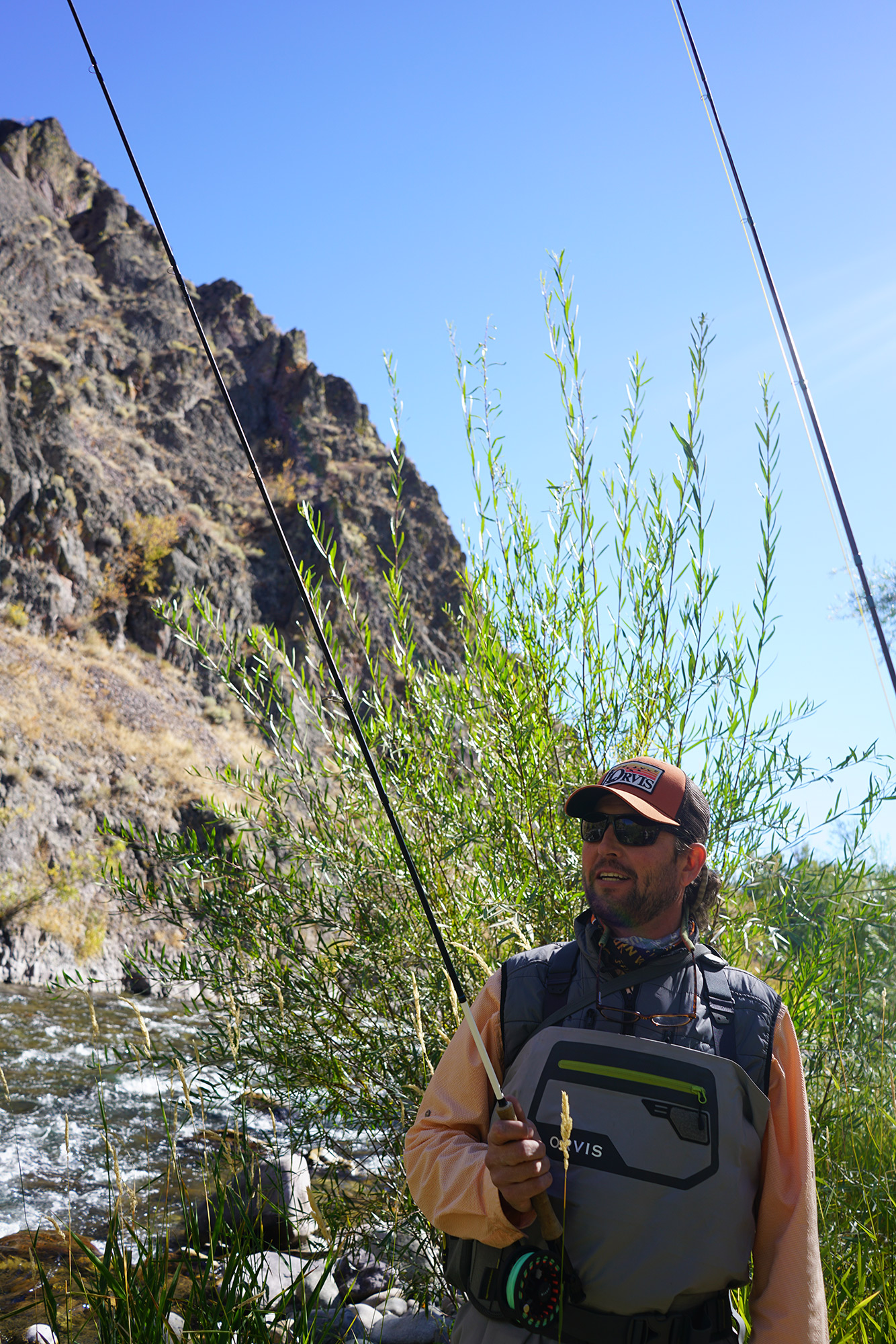 Bryant Dunn of Sun Valley Outfitters on the Big Wood River, Ketchum, Idaho