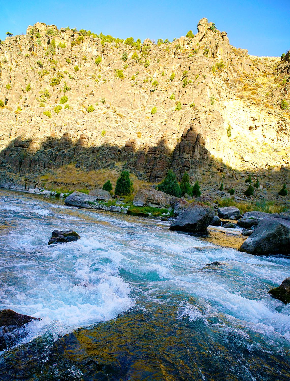 Morning light on the Teton river