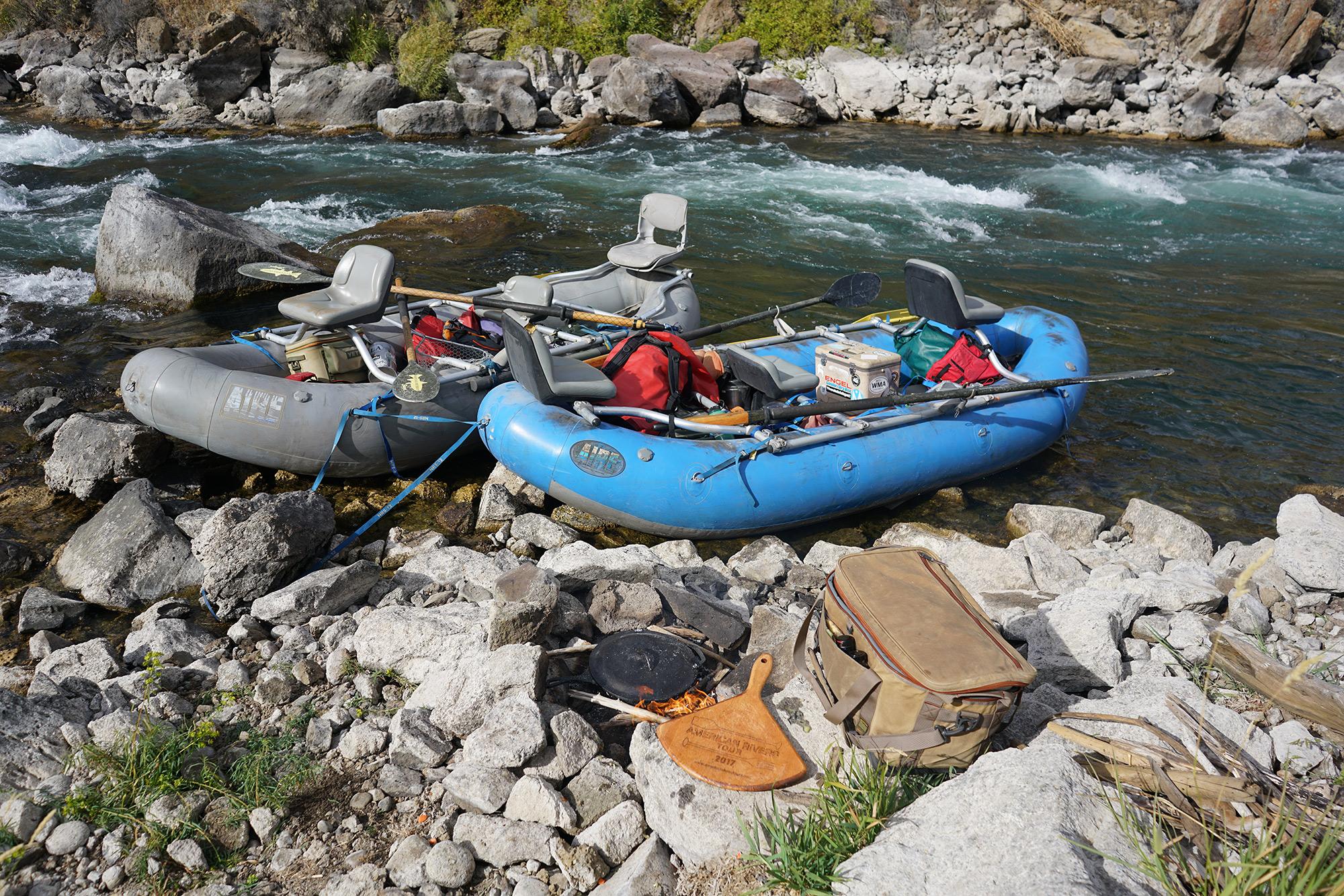 Break for a Teton River side lunch