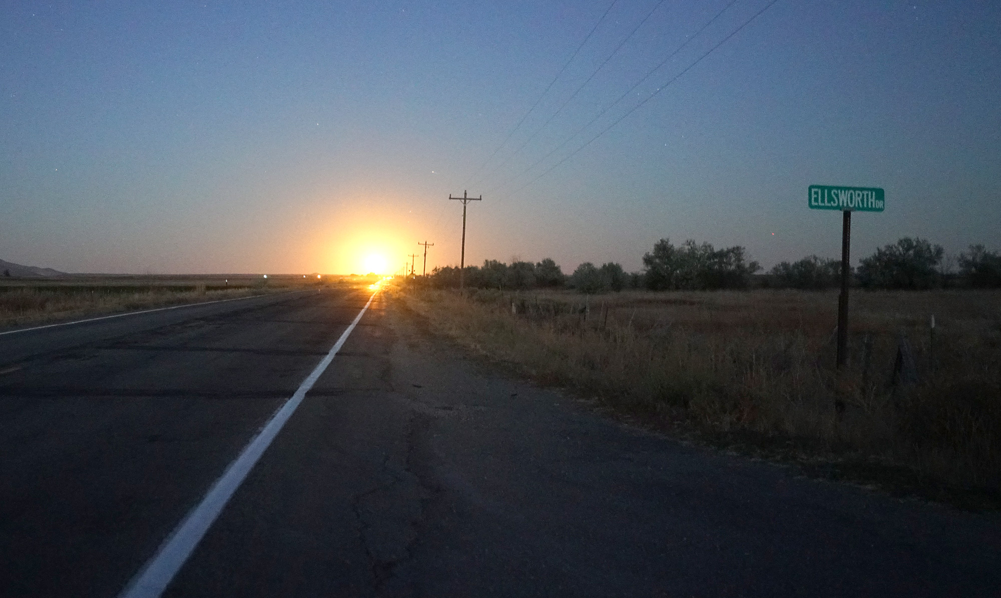 Sunrise on the way to Craters of the moon, Idaho