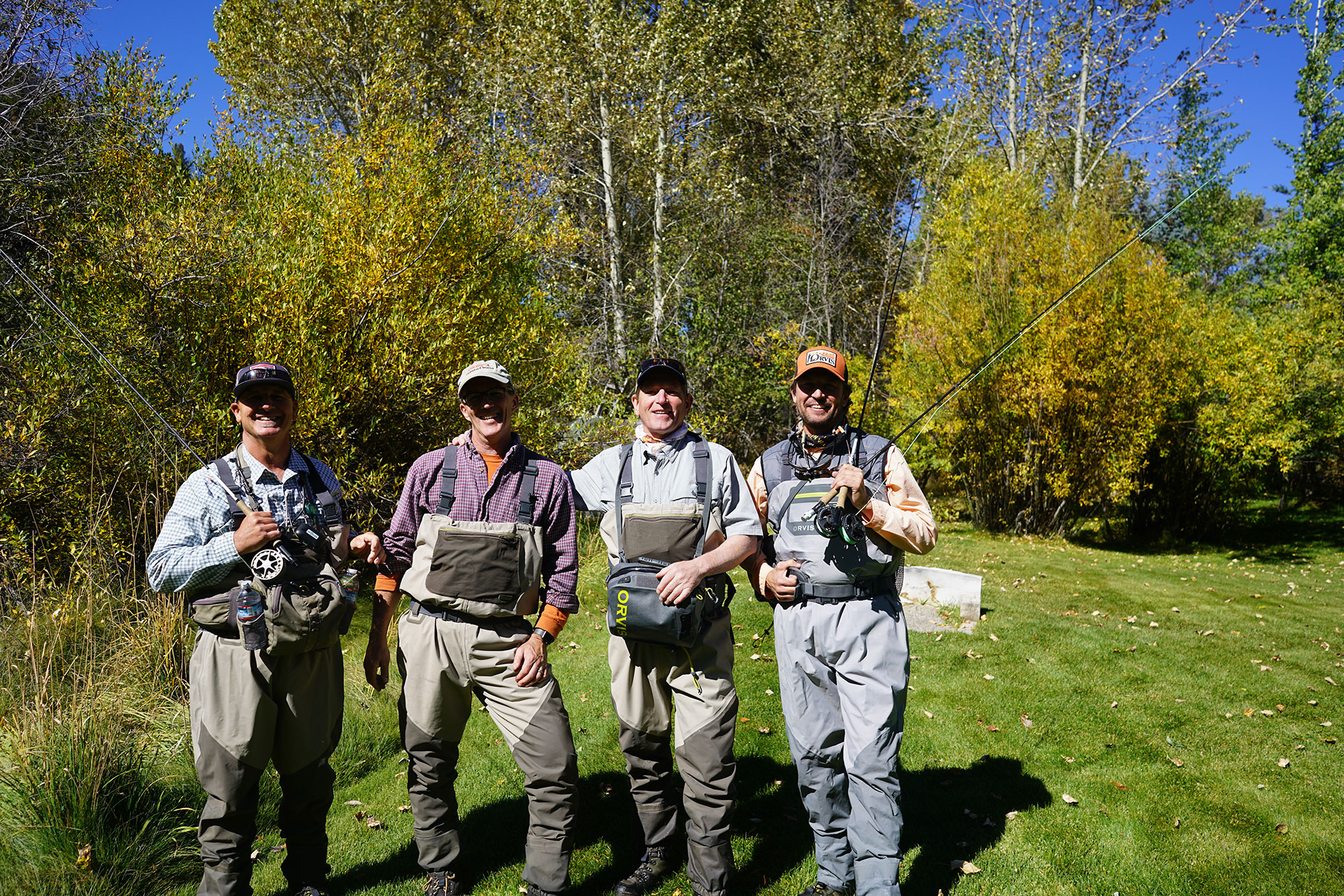George, Scott, Colin, Bryant, Sun Valley by the Big Wood River