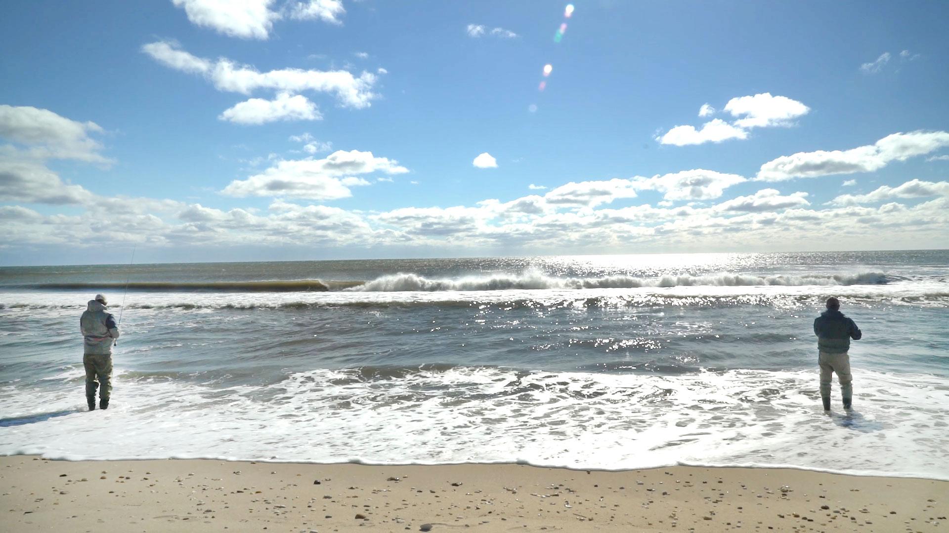 Endless sky on Eastern Long Island ocean beaches