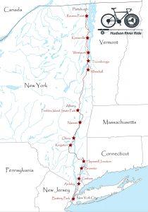 Empire State Trail, Hudson River Bikeride map